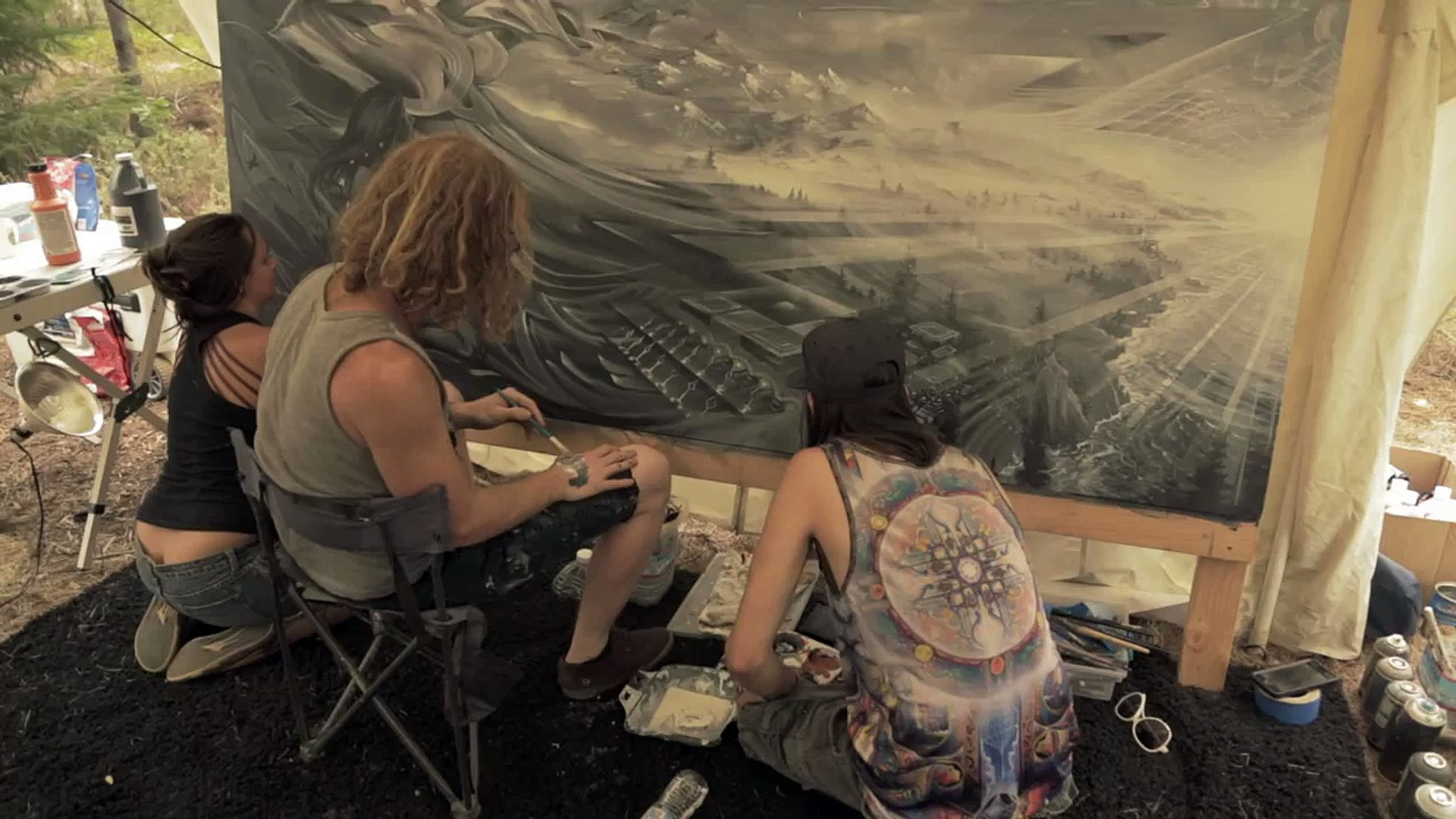 27/58 Jonathan Solter, Seth McMahon, Ashely Foreman live art collab @ Trinity River Jamboree 2015
