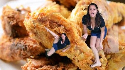 Alas chicas de verdad nos gusta el pollo frito