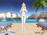MMD FROZEN Elsa Bikini dances on the beach MMD (bo beep bo)