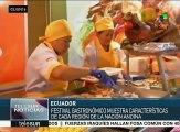Celebran en Quito festival gastronómico de Ecuador