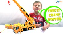 Crane toys. Video for kids - unboxing toys trucks. Construction Vehicles. Cars Toys Review Episode 5