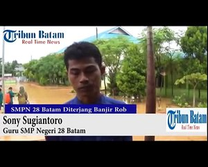 SMP Negeri 28 Batam Diterjang Banjir Rob