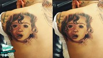 Chris Brown Tattoos Picture Of Royalty On His Back