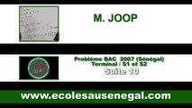 Exercices - Terminale -  Série S -Mathématiques: Probléme Bac 2007 Suite 10