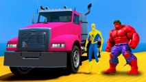 Spiderman & BROTHERS HULK Epic COLORS TRUCK PARTY drôle Superhero et Comptines Chansons