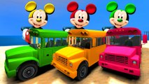 COULEURS Mickey Mouse On Wheels Les Bus & Truck School Bus Party & Comptines Chansons enfantines