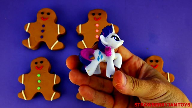 Giant Play Doh - Gingerbread Men Shopkins Play Doh Spiderman My Little Pony - Surprise Eggs
