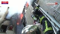 Incendie à Saint-Denis : les images des sapeurs-pompiers