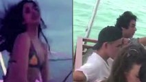 Shahrukh Son Aryan Amitabh Bachchan grandDaughter Navya in Bikini Enjoying Enjoying Party    Vianet Media