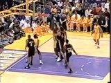 Shaquille O'Neal 24 pts 20 rebs vs Blazers 22.04.2001