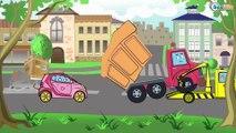 Tractor Pavlik in Cartoons for children. Construction Trucks - Bulldozer. Diggers & Cars for kids
