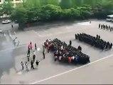 Kore polisinden eylemcilere şov gibi müdahale