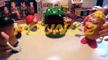 Mr. Potato Head vs Mrs. Potato Head - Crocodile Dentist Challenge Round 2: Disney, Pixar, Toy Story