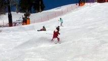 スキーでグラウンドトリック 鷲ヶ岳スキー場 2014.02.23