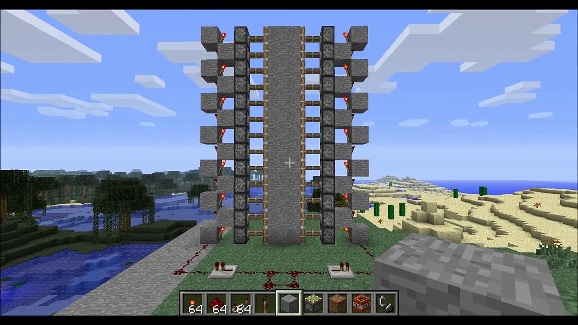 Minecraft - Large Piston Door Tutorial