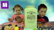 Челлендж 3 секунды много конфет или фрукты с овощами у Макса и Кати новое видео Challenge candy or fruit and vegetables