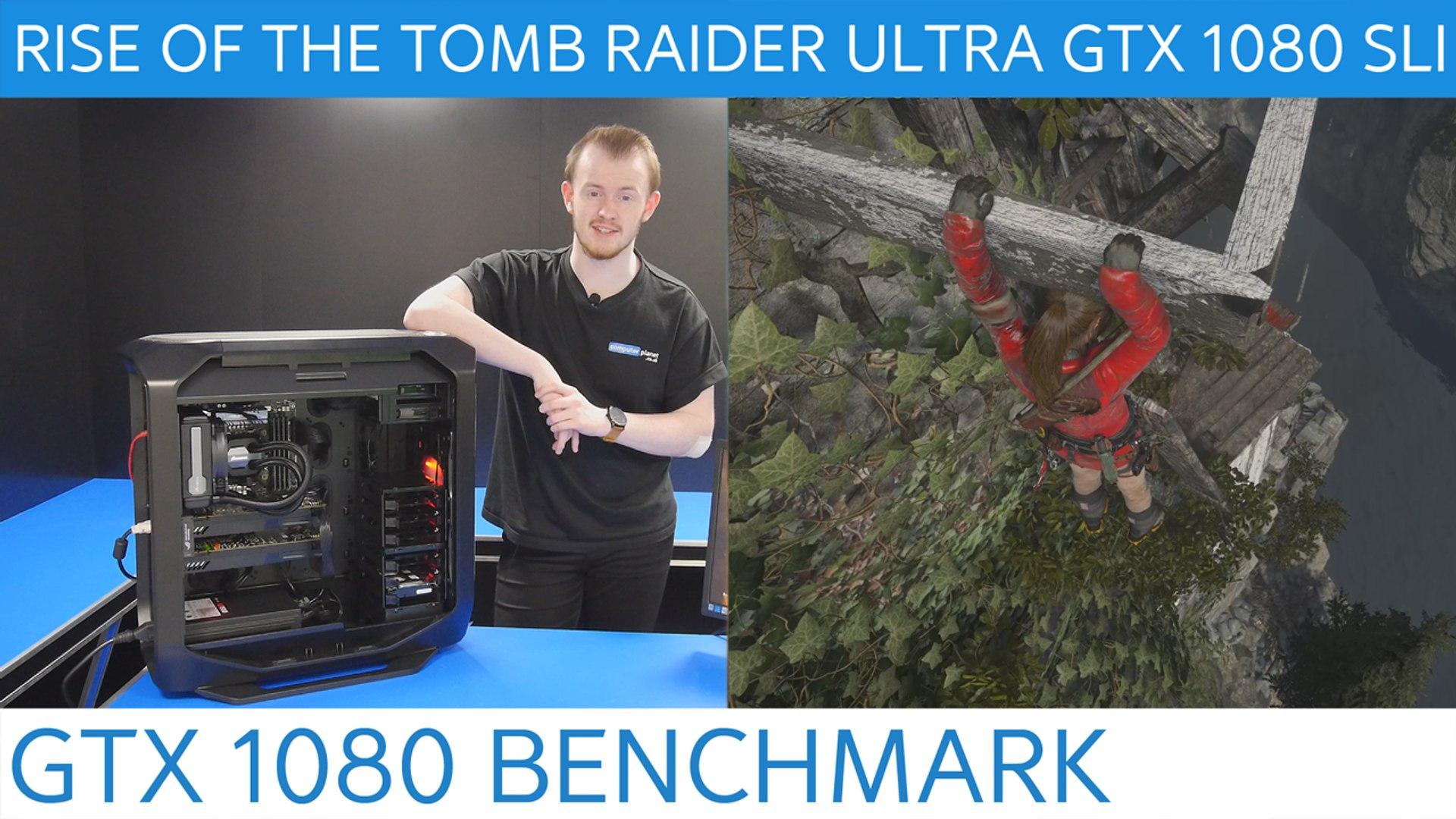 RISE OF THE TOMB RAIDER ULTRA GTX 1080 SLI BENCHMARK