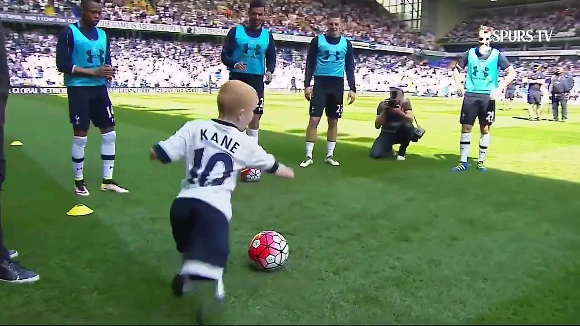 Kid Playing Football Without Legs