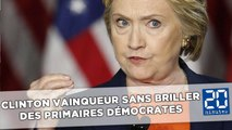 Démocrates: Clinton vainqueur sans briller des primaires
