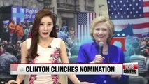 Hillary Clinton has enough delegates to clinch Democratic nomination: AP