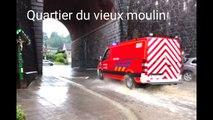 7 juin 2016: deuxième jour d'inondation à Dolhain-Limbourg