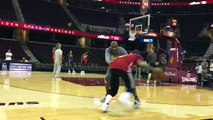 Kyrie Irving Going 1-on-1 with Assistant Coach at Cavs Practice   Game 3 Preview  2016 NBA Finals