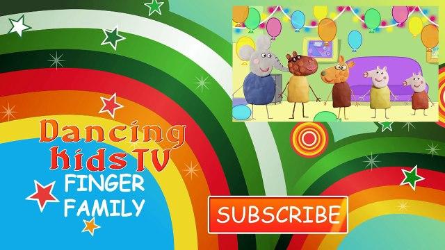 Play Doh Peppa Pig Christmas Finger Family / Nursery Rhymes