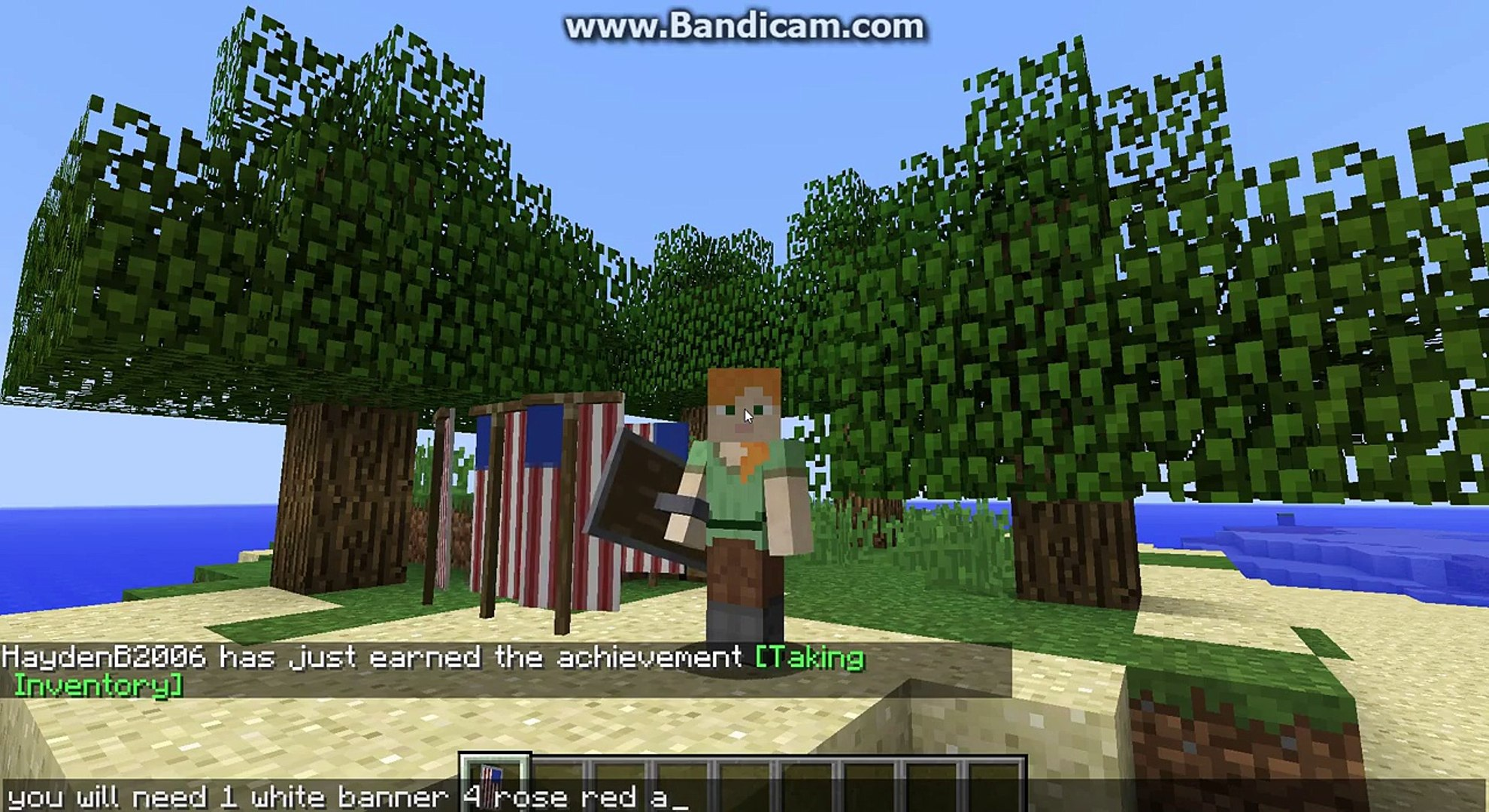 How To Make American Flag Banner And Shield In Minecraft 1 9