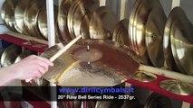 "Diril Cymbals Italia - 20"" Raw Bell Series Ride"