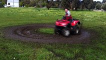 Dad Takes Kids For A Spin And A Mud Bath