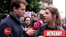 Une manifestante anti-avortement qui ne boit pas que de l'eau