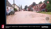 Nouvelles inondations impressionnantes dans le Nord-Pas-de-Calais