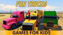 COLOR TRUCKS PARTY RED Spiderman EPIC CARS Cartoon 3D Comptines Chansons pour les enfants et les enfants