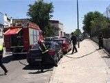 Imágenes del incendio producido en el IES La Cañada de Coslada, hoy 15 de julio de 2009