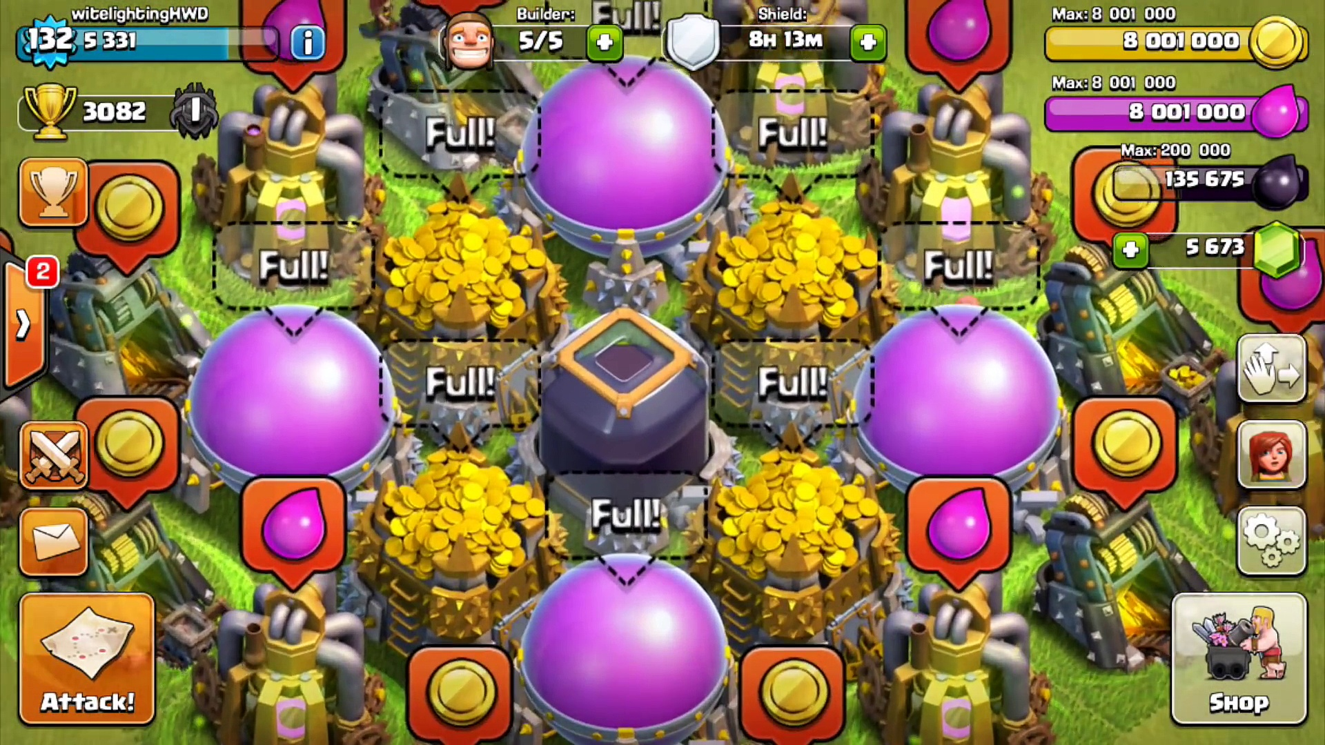 LOOT!  MAXED BASE FARMING!  – Clash of Clans – + FULL STORAGE SPENDING! Farming in Masters