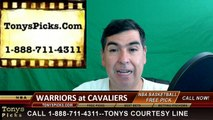 Cleveland Cavaliers vs. Golden St Warriors Free Pick Prediction Game 3 NBA Pro Basketball Finals Odds Preview