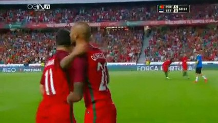Karol Mets OWN Goal Portugal 5 - 0 Estonia Friendly Match 7-6-2016