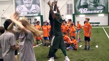 Rontez Miles and Wes Saxton Interview at New York Jets Play 60 Event
