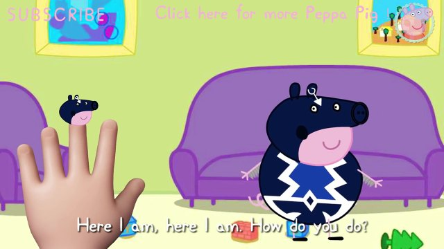 Peppa Pig TV Peppa Pig Black Bolt The Smoke Finger Family Nursery Rhymes