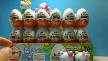 72 Kinder Surprise Eggs Happy Hello Kitty 40 Anniversary Überraschungsei Auspacken, huevo sorpresa