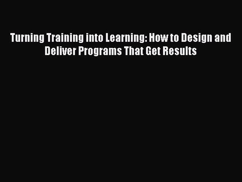 Evolution of training and development
