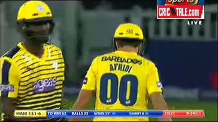 watch Shahid Afridi 4 massive sixes for Hampshire