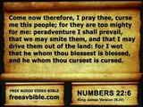 #04. Numbers Chapter 22 King James Version KJV – Free Audio Video Bible (AV Bible) Read Along