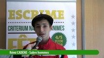 Interview Rémi Cadene, vainqueur sabre homme #fdjescrime 2016