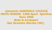 MOTO MORINI  1200 Sport  Sportive...
