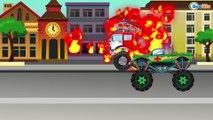 ✔ Carritos Para Niños. Camión de bomberos, Camión, Un Camión Monstruo. Caricaturas de carros