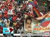Venezolanos marchan para defender el abastecimiento y la producción