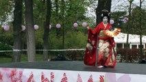 Nihon-Buyo (Danse traditionnelle japonaise) au jardin d'acclimatation -Hanami