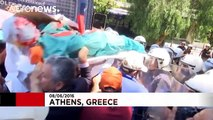 Greek state hospital workers protest cuts