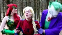 Hot Frozen Elsa Becomes Crazy Spider Elsa Again! Spiderman, Pink Spider hot girl Joker & Doctor! Superhero Fun )